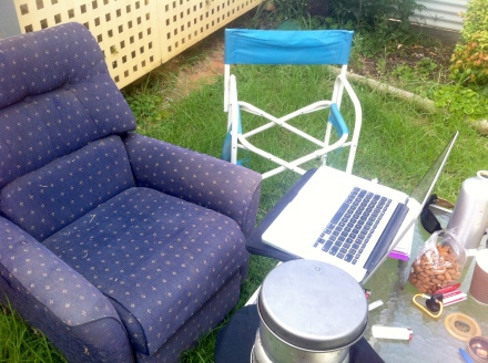 office with reclining armchair—a new personal best